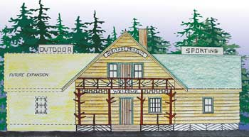 An Artists rendering of the Rangeley Historical Musuem currently bieng constructed.