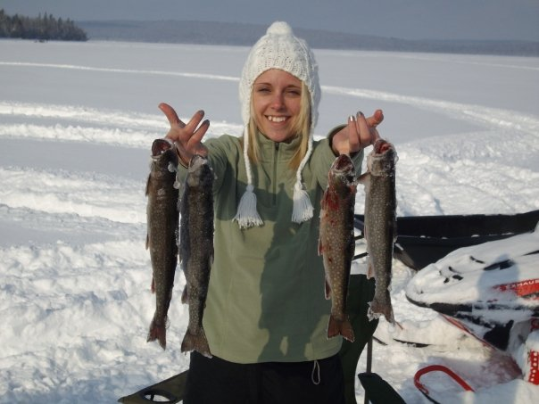 Sherrie and a few days worth of Trout Dinners