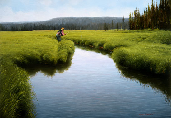 Where Wild Trout Hide  ·  Oil on Panel