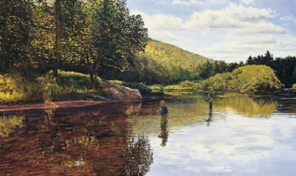 South Branch Moose-Oil on Canvas: Peter Corbin