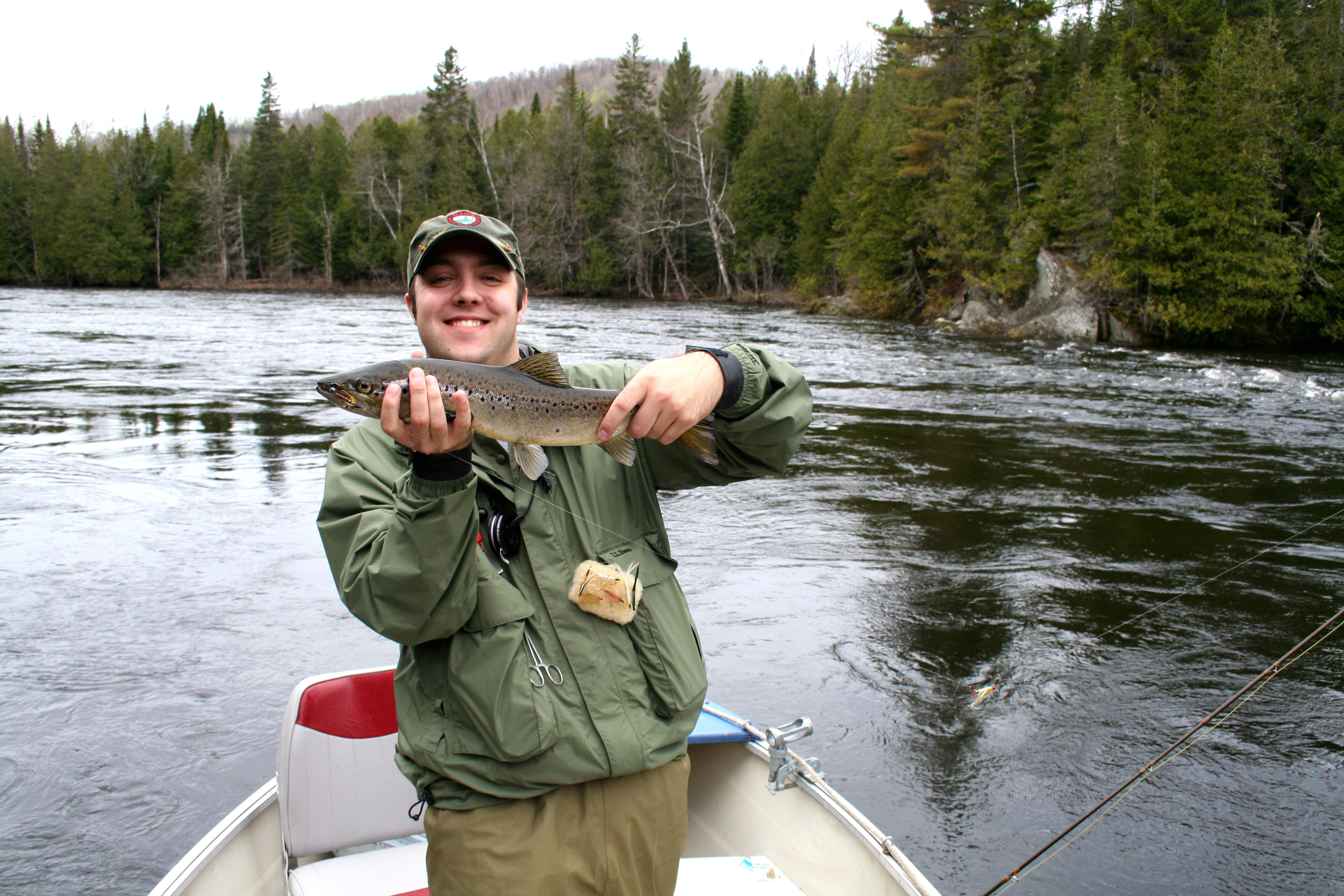 Big Smiles for my first Landlock Salmon of the season. Why I love Fly Fishing