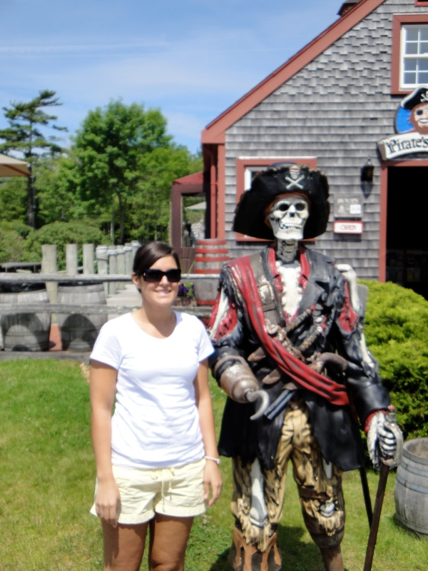 Naturally, he tried to Pirate my Lady. Not Cool Blackbeard, not cool.