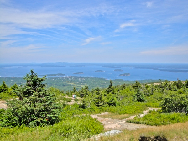 View from the top of Cadillac Mountain, Acadia National Park